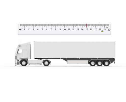 Los camiones 15 centimetros más largos