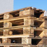 El transporte de palets de mercancías